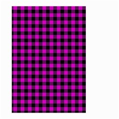 Lumberjack Fabric Pattern Pink Black Small Garden Flag (two Sides) by EDDArt