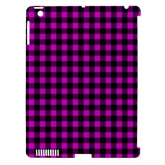 Lumberjack Fabric Pattern Pink Black Apple Ipad 3/4 Hardshell Case (compatible With Smart Cover) by EDDArt