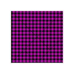 Lumberjack Fabric Pattern Pink Black Acrylic Tangram Puzzle (4  X 4 ) by EDDArt