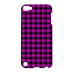 Lumberjack Fabric Pattern Pink Black Apple Ipod Touch 5 Hardshell Case by EDDArt