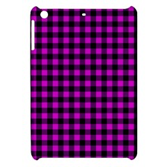 Lumberjack Fabric Pattern Pink Black Apple Ipad Mini Hardshell Case by EDDArt