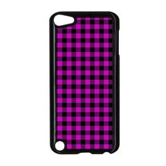 Lumberjack Fabric Pattern Pink Black Apple Ipod Touch 5 Case (black) by EDDArt