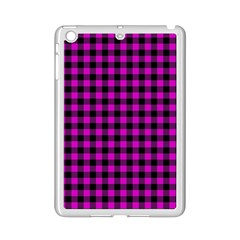 Lumberjack Fabric Pattern Pink Black Ipad Mini 2 Enamel Coated Cases by EDDArt