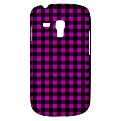 Lumberjack Fabric Pattern Pink Black Galaxy S3 Mini by EDDArt