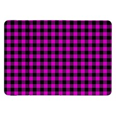 Lumberjack Fabric Pattern Pink Black Samsung Galaxy Tab 8 9  P7300 Flip Case by EDDArt