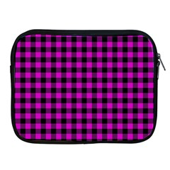 Lumberjack Fabric Pattern Pink Black Apple Ipad 2/3/4 Zipper Cases by EDDArt