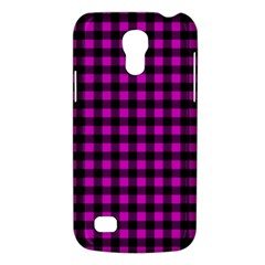 Lumberjack Fabric Pattern Pink Black Galaxy S4 Mini by EDDArt