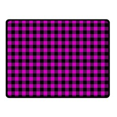 Lumberjack Fabric Pattern Pink Black Double Sided Fleece Blanket (small)  by EDDArt