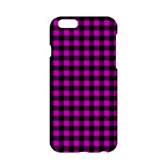 Lumberjack Fabric Pattern Pink Black Apple Iphone 6/6s Hardshell Case by EDDArt