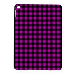 Lumberjack Fabric Pattern Pink Black Ipad Air 2 Hardshell Cases by EDDArt