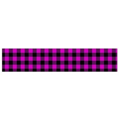 Lumberjack Fabric Pattern Pink Black Flano Scarf (small) by EDDArt