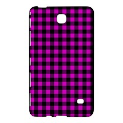Lumberjack Fabric Pattern Pink Black Samsung Galaxy Tab 4 (7 ) Hardshell Case  by EDDArt
