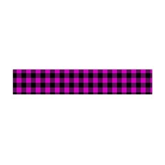 Lumberjack Fabric Pattern Pink Black Flano Scarf (mini) by EDDArt