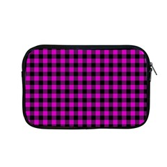Lumberjack Fabric Pattern Pink Black Apple Macbook Pro 13  Zipper Case by EDDArt