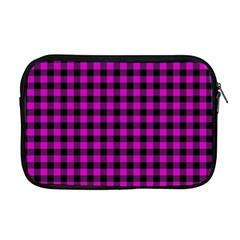 Lumberjack Fabric Pattern Pink Black Apple Macbook Pro 17  Zipper Case by EDDArt