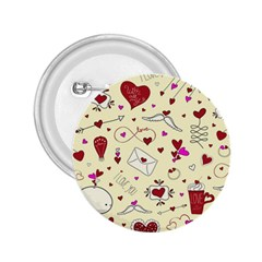 Valentinstag Love Hearts Pattern Red Yellow 2 25  Buttons by EDDArt