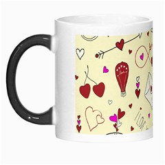 Valentinstag Love Hearts Pattern Red Yellow Morph Mugs by EDDArt