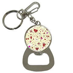Valentinstag Love Hearts Pattern Red Yellow Button Necklaces by EDDArt