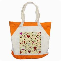 Valentinstag Love Hearts Pattern Red Yellow Accent Tote Bag by EDDArt