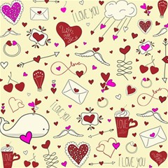 Valentinstag Love Hearts Pattern Red Yellow Canvas 12  X 12   by EDDArt
