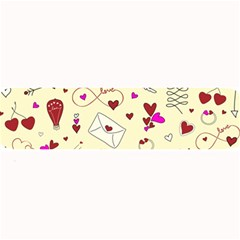Valentinstag Love Hearts Pattern Red Yellow Large Bar Mats by EDDArt