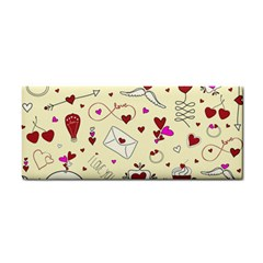 Valentinstag Love Hearts Pattern Red Yellow Cosmetic Storage Cases by EDDArt
