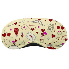 Valentinstag Love Hearts Pattern Red Yellow Sleeping Masks by EDDArt
