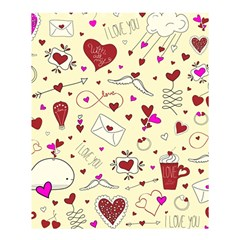 Valentinstag Love Hearts Pattern Red Yellow Shower Curtain 60  X 72  (medium)  by EDDArt