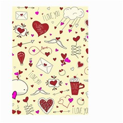 Valentinstag Love Hearts Pattern Red Yellow Large Garden Flag (two Sides) by EDDArt