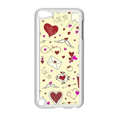 Valentinstag Love Hearts Pattern Red Yellow Apple Ipod Touch 5 Case (white) by EDDArt