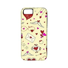 Valentinstag Love Hearts Pattern Red Yellow Apple Iphone 5 Classic Hardshell Case (pc+silicone) by EDDArt