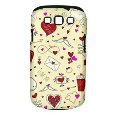 Valentinstag Love Hearts Pattern Red Yellow Samsung Galaxy S Iii Classic Hardshell Case (pc+silicone) by EDDArt
