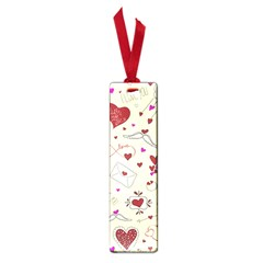 Valentinstag Love Hearts Pattern Red Yellow Small Book Marks by EDDArt
