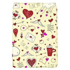 Valentinstag Love Hearts Pattern Red Yellow Flap Covers (s)  by EDDArt