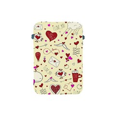 Valentinstag Love Hearts Pattern Red Yellow Apple Ipad Mini Protective Soft Cases by EDDArt