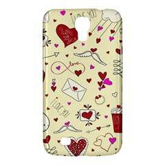 Valentinstag Love Hearts Pattern Red Yellow Samsung Galaxy Mega 6 3  I9200 Hardshell Case by EDDArt