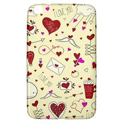 Valentinstag Love Hearts Pattern Red Yellow Samsung Galaxy Tab 3 (8 ) T3100 Hardshell Case  by EDDArt