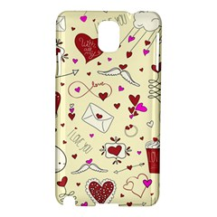 Valentinstag Love Hearts Pattern Red Yellow Samsung Galaxy Note 3 N9005 Hardshell Case by EDDArt
