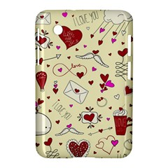 Valentinstag Love Hearts Pattern Red Yellow Samsung Galaxy Tab 2 (7 ) P3100 Hardshell Case  by EDDArt