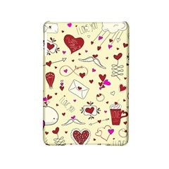 Valentinstag Love Hearts Pattern Red Yellow Ipad Mini 2 Hardshell Cases by EDDArt