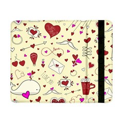 Valentinstag Love Hearts Pattern Red Yellow Samsung Galaxy Tab Pro 8 4  Flip Case by EDDArt