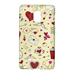Valentinstag Love Hearts Pattern Red Yellow Galaxy Note Edge by EDDArt