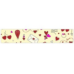 Valentinstag Love Hearts Pattern Red Yellow Flano Scarf (large) by EDDArt