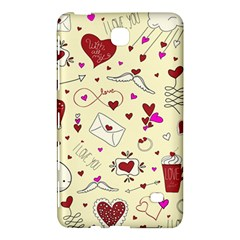 Valentinstag Love Hearts Pattern Red Yellow Samsung Galaxy Tab 4 (7 ) Hardshell Case  by EDDArt