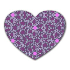 Floral Pattern Heart Mousepads by Valentinaart