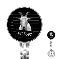 Criminal Goat  Stainless Steel Nurses Watch by Valentinaart