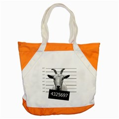 Criminal Goat  Accent Tote Bag by Valentinaart