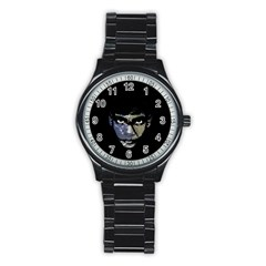 Wild Child  Stainless Steel Round Watch by Valentinaart
