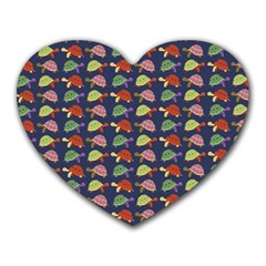 Turtle Pattern Heart Mousepads by Valentinaart