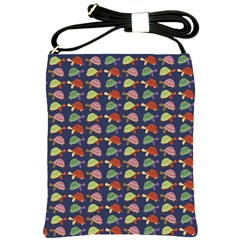 Turtle Pattern Shoulder Sling Bags by Valentinaart